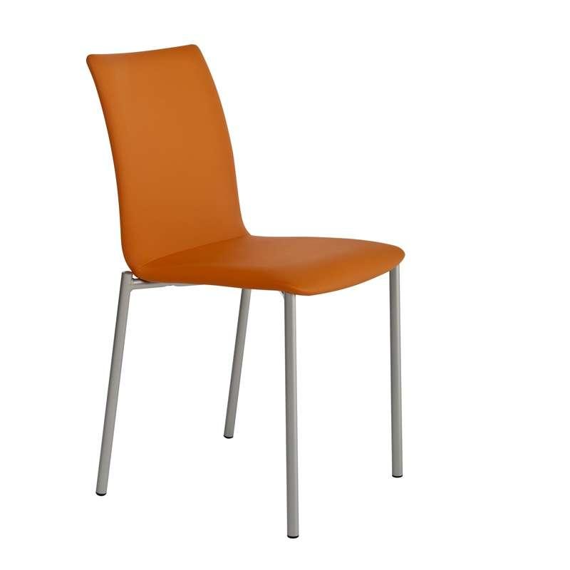 Chaise moderne en m tal et tissu pro 39 g 4 pieds tables - Chaises en tissus design ...