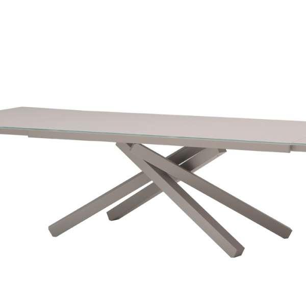Table design en verre Péchino extensible Midj® 160cm x 90cm - 4