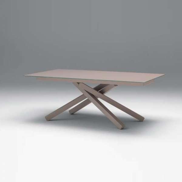 Table design en verre Péchino extensible Midj® 160cm x 90cm - 1
