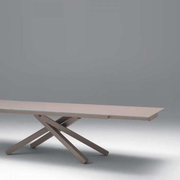 Table design en verre Péchino extensible Midj® 160 x 106 cm