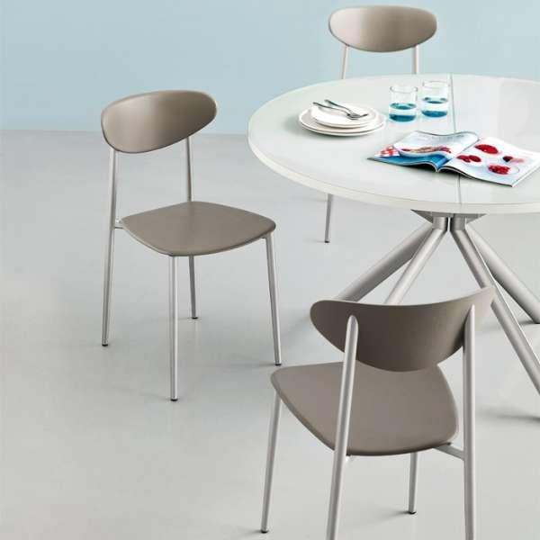 Chaise de cuisine en polypropylène et métal - Graffiti 5 - 16