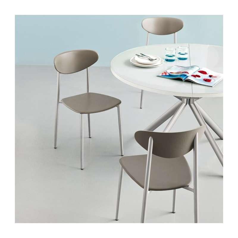 Chaise de cuisine en polypropyl ne graffiti 4 pieds tables chaises et tabourets - Eco cuisine herblay ...
