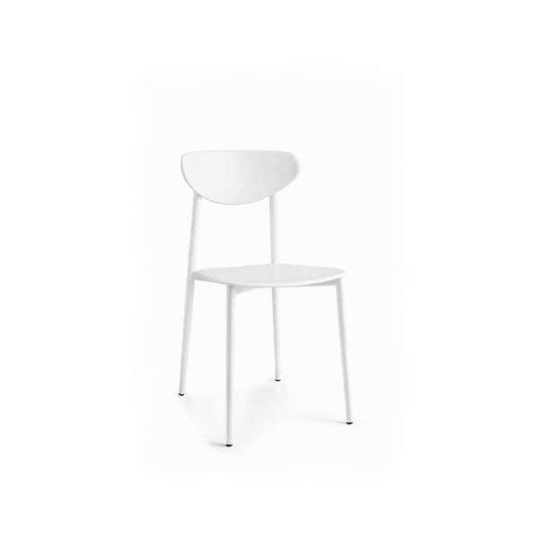 Chaise de cuisine en polypropylène blanche - 5