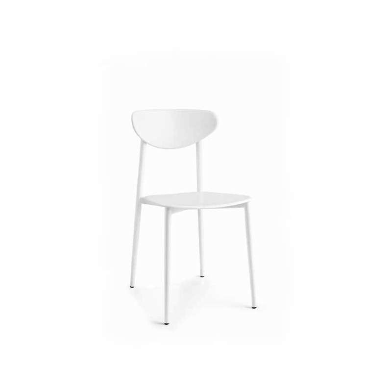 chaise de cuisine en polypropyl ne blanche 4 pieds tables chaises et tabourets. Black Bedroom Furniture Sets. Home Design Ideas