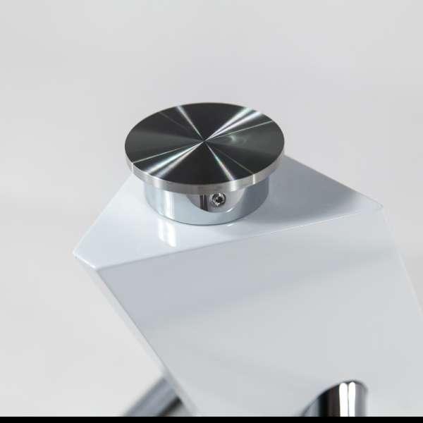 Table en verre design carré Tundra - 120 cm x 120 cm - 6