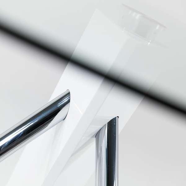Table en verre design carré Tundra - 120 cm x 120 cm - 9