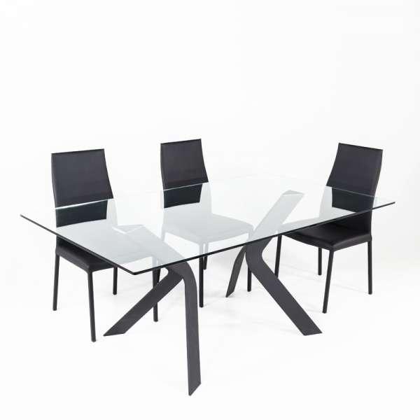 Table design en verre rectangulaire Trendy 100 cm x 180 cm - 3