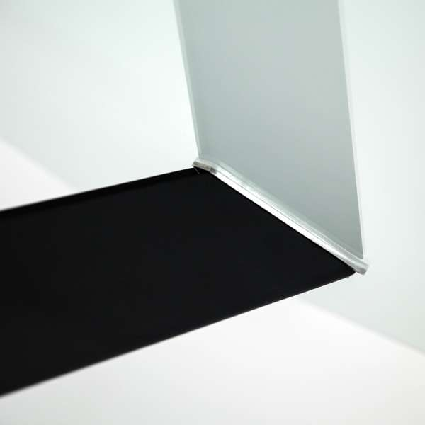 Table design en verre rectangulaire Trendy 100 cm x 180 cm - 7