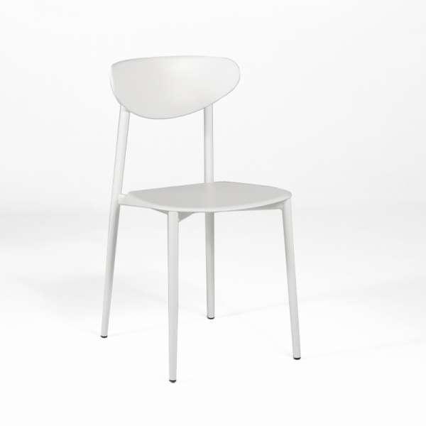 Chaise de cuisine en polypropyl ne blanche 4 pieds tables chaises et tab - Chaise blanche cuisine ...