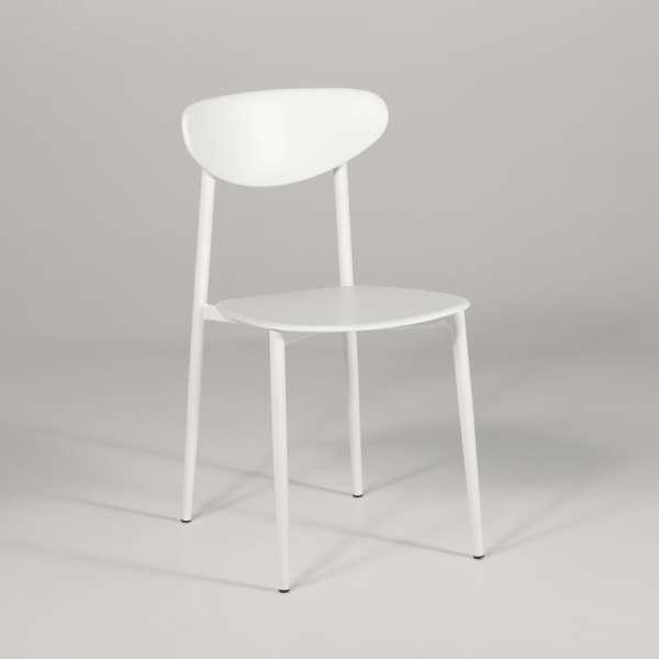 chaise de cuisine en polypropyl ne blanche graffiti 4 pieds tables chaises et tabourets. Black Bedroom Furniture Sets. Home Design Ideas