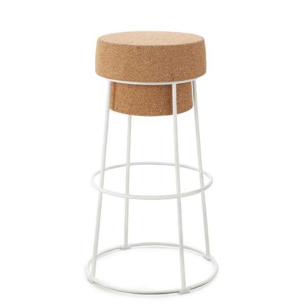 tabouret design bouchon en m tal et li ge domitalia 4 pieds tables chaises et tabourets. Black Bedroom Furniture Sets. Home Design Ideas