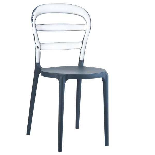 Chaise design en plexi et polypropylène - Miss Bibi 22 - 28