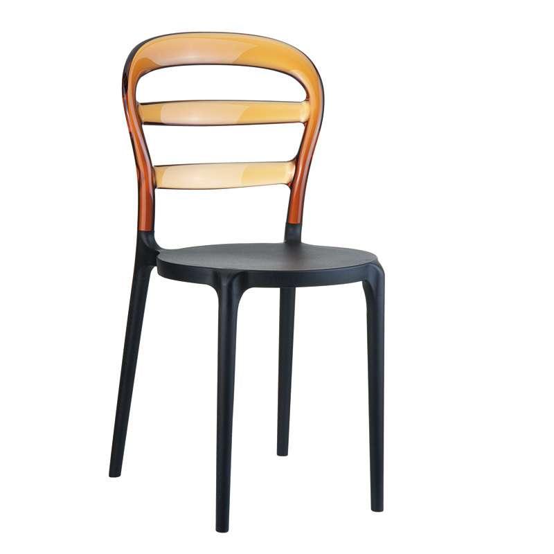 Chaise moderne en plexi et polypropyl ne miss bibi 4 for Chaise en plexiglass