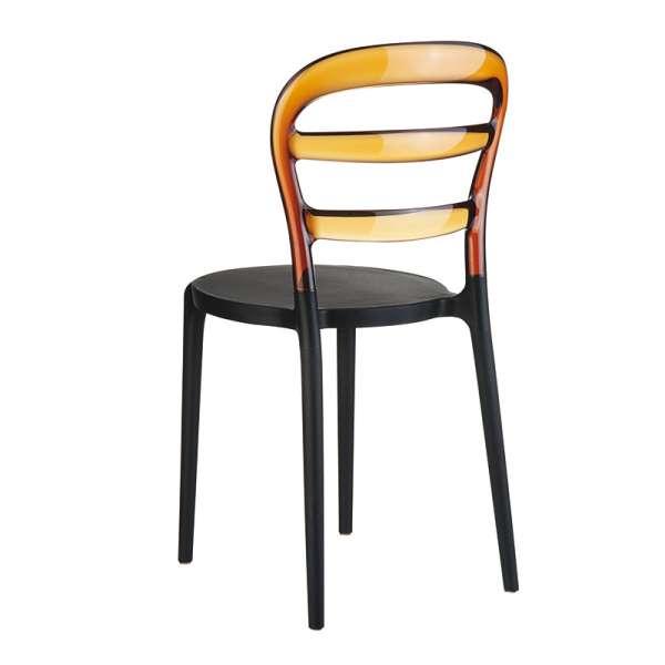 Chaise design en plexi et polypropylène - Miss Bibi 6 - 12
