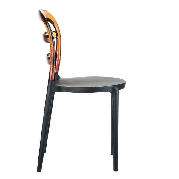 Chaise design en plexi et polypropylène - Miss Bibi 7 - 13