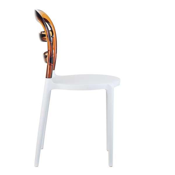 Chaise design en plexi et polypropylène - Miss Bibi 13 - 19