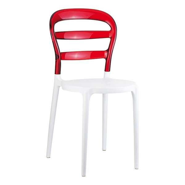 Chaise design en plexi et polypropylène - Miss Bibi 23 - 29