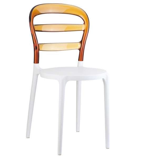 Chaise design en plexi et polypropylène - Miss Bibi 11 - 17