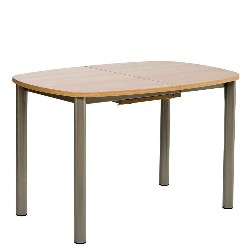 Table de cuisine lustra en stratifi avec allonge 4 - Table cuisine avec tabouret ...