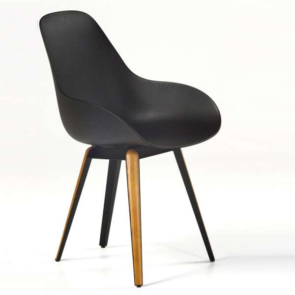 Chaise noire kubikoff® - 2
