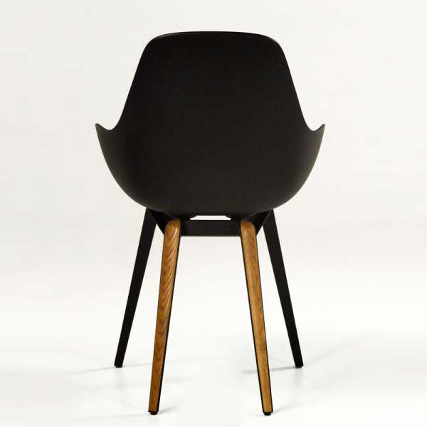 Chaise scandinave noire Slice dimple closed kubikoff® - 3