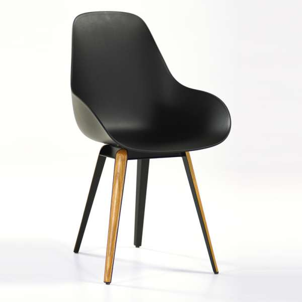 Chaise moderne noire Slice dimple closed kubikoff® - 4