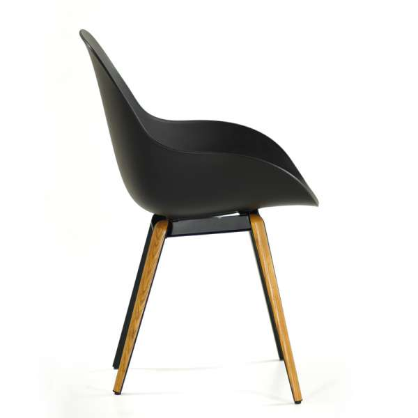 Chaise noire design Slice dimple closed kubikoff® - 6