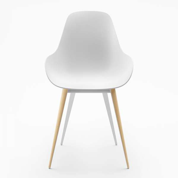 Chaise blanche dimple closed kubikoff® - 7