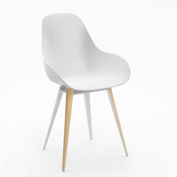 Chaise blanche Slice dimple closed kubikoff® - 8