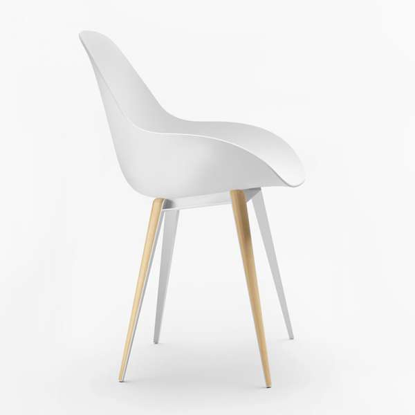 Chaise design blanche Slice dimple closed kubikoff® - 9