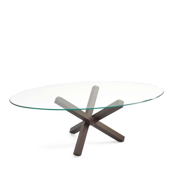 Table de salle à manger ovale design en verre - Aikido Sovet® 2 - 2