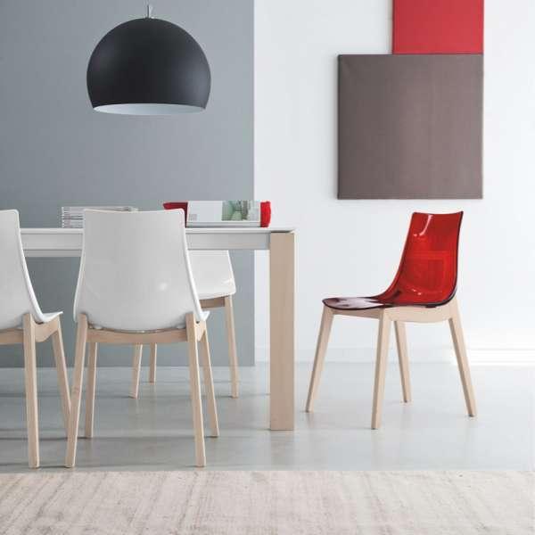 Chaise moderne en bois et plexi - Led Wood