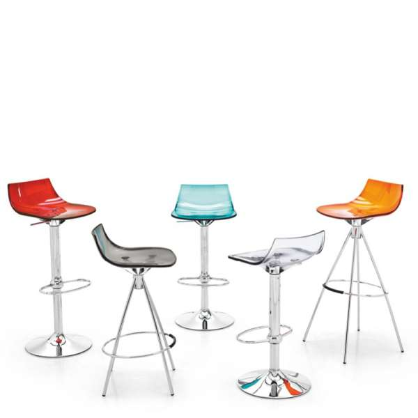 Tabouret design snack en plexi - Led 3 - 3