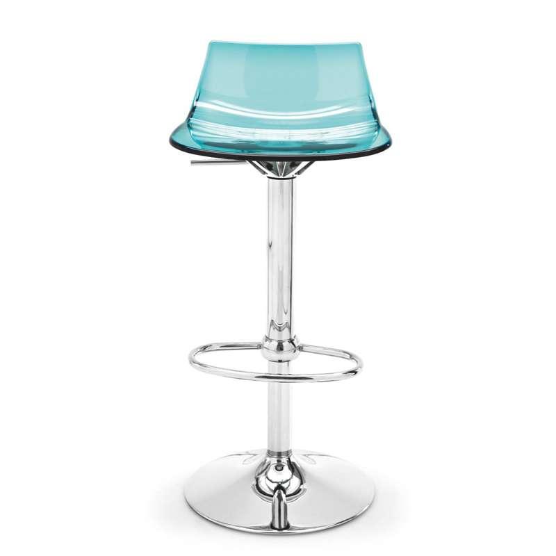 tabouret r glable design en plexi led 4 pieds tables chaises et tabourets. Black Bedroom Furniture Sets. Home Design Ideas