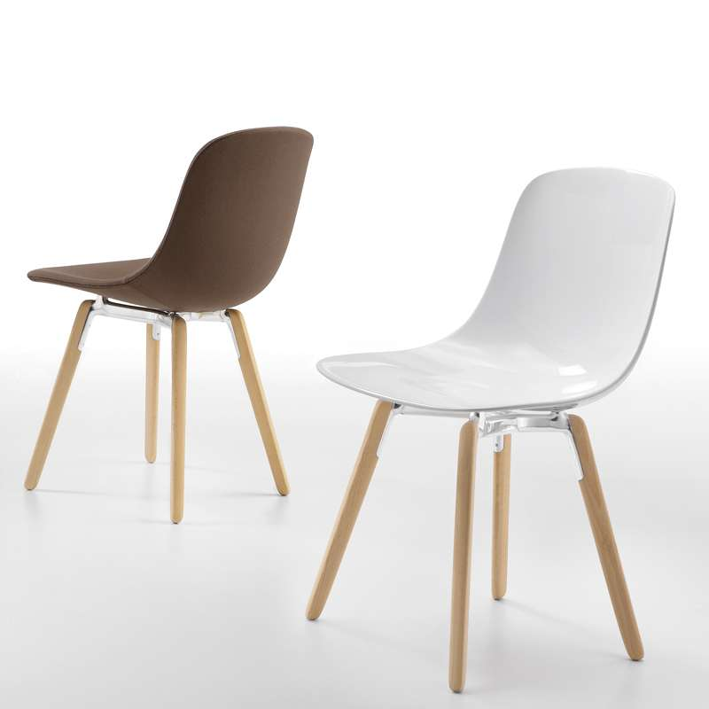Chaise Design En Plexi Pieds Bois Pure Loop Wooden