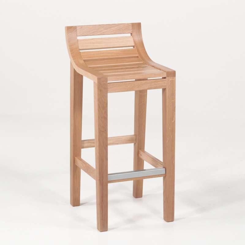tabouret de bar ou snack contemporain en ch ne assise bois. Black Bedroom Furniture Sets. Home Design Ideas
