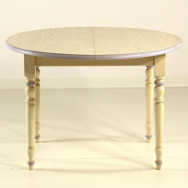 Table en bois ronde avec allonges 4 chaises proven ales for Table ronde avec rallonges