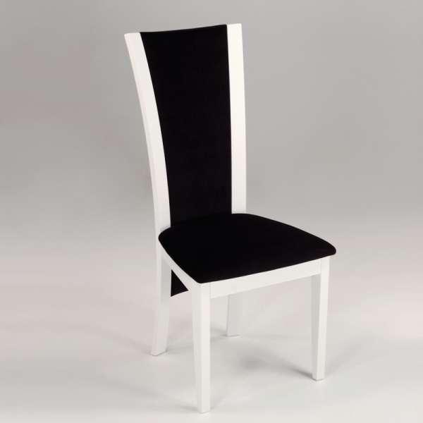 Chaise de séjour contemporaine en tissu et bois massif - Kelly 5 - 5