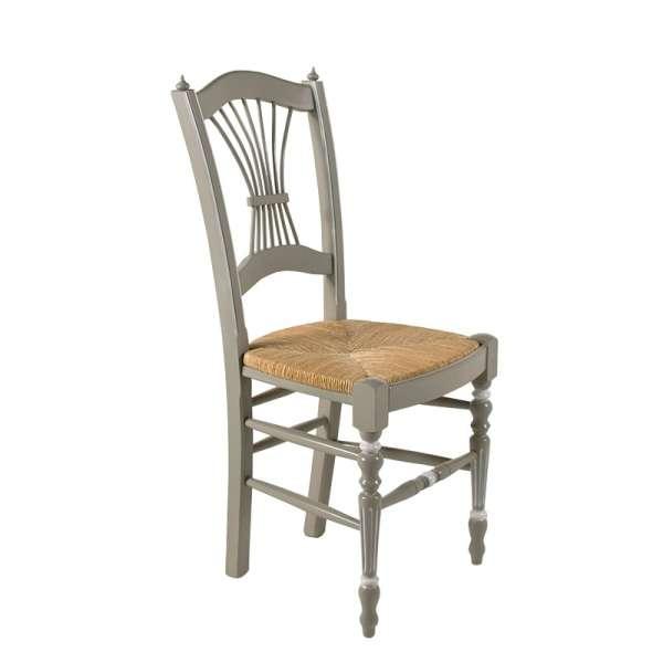 4 pieds vente en ligne - Chaise cuisine bois paille ...
