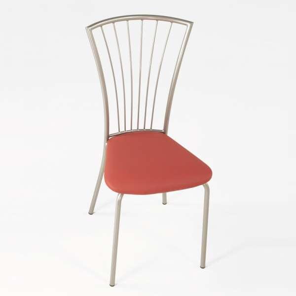 Chaise de cuisine en vinyl et métal - Jana 7 - 7