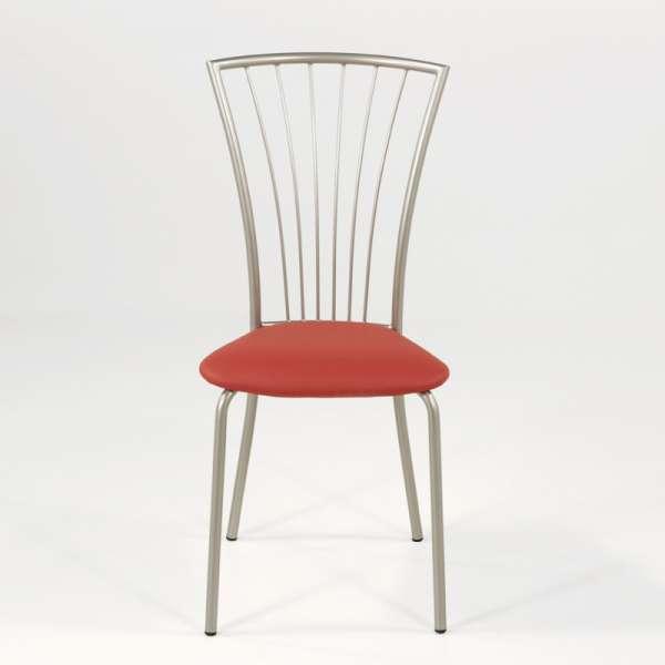 Chaise de cuisine en vinyl et métal - Jana 8 - 8