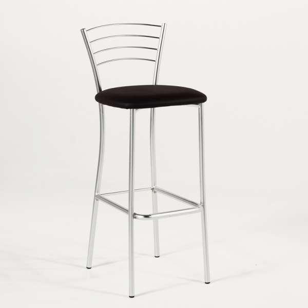 Tabouret de bar de cuisine en m tal roma 4 pieds tables chaises et tab - Tabouret de cuisine 4 pieds ...