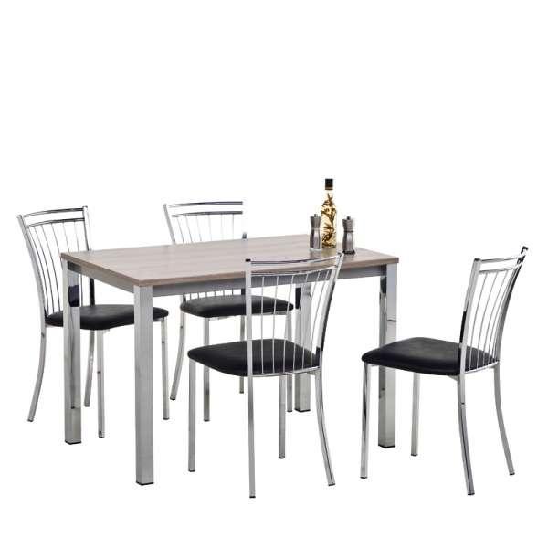 Table de cuisine rectangulaire en stratifié - Vienna 4 - 4