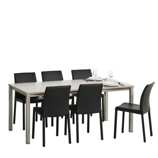 Table de cuisine rectangulaire en stratifié - Vienna 6 - 6