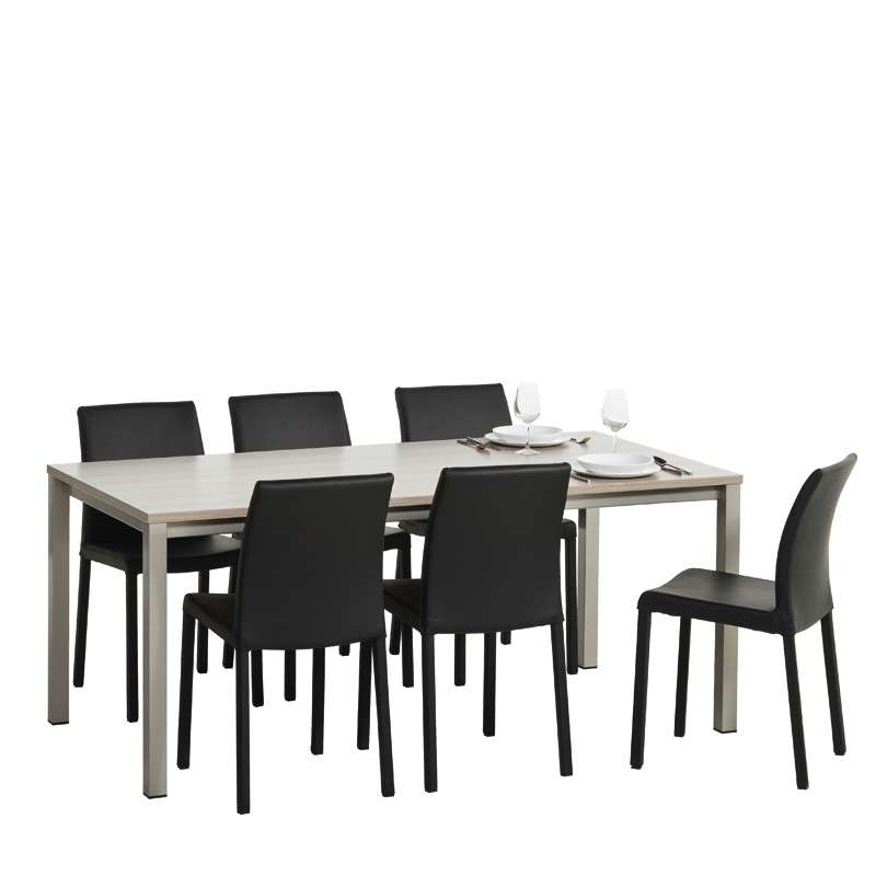 table de cuisine vienna en stratifi sans allonge 2 hauteurs 4 pieds tables chaises et. Black Bedroom Furniture Sets. Home Design Ideas