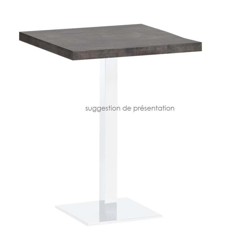plateau de table carr ou rectangle en stratifi quadra 4 pieds tables chaises et tabourets. Black Bedroom Furniture Sets. Home Design Ideas
