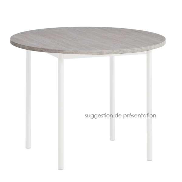 Plateau de table rond ou carré en stratifié 2 - 2