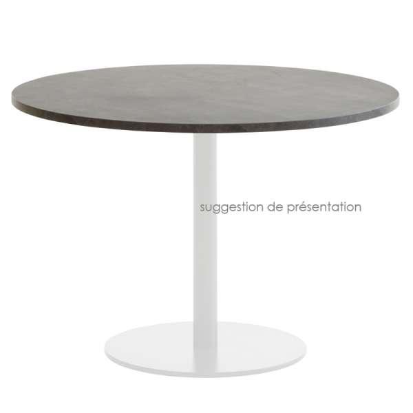 Plateau de table rond ou carré en stratifié 5 - 5