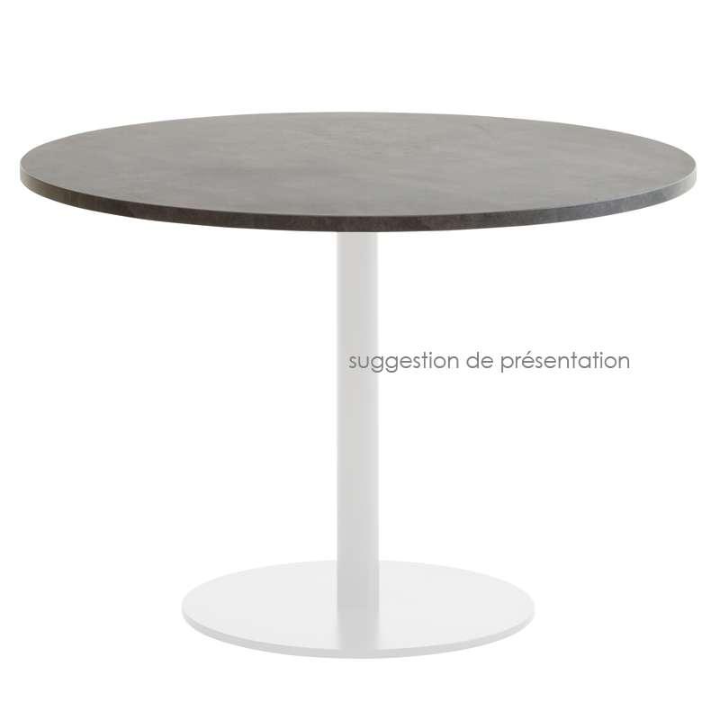 plateau de table seul en stratifi hpl forme carr ou rond 4 pieds tables chaises et. Black Bedroom Furniture Sets. Home Design Ideas