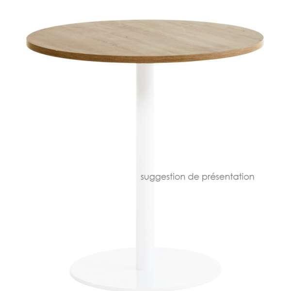 Plateau de table seul en stratifi hpl forme carr ou - Plateau de table ...